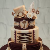 Steampunk Wedding Cake I was soooo happy to have this order!!!! Every time I saw a steampunk cake I was praying to have one someday!!! Here it is!