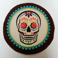 Sugar Skull Cake Topper  I made this birthday cake for my daughter. The top edge is a little rough but I let it slide since it was just for our family gathering. I...