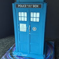 Tardis  This groom came to me with a very specific vision of his groom's cake. He provided me with many photos and educated me on the...