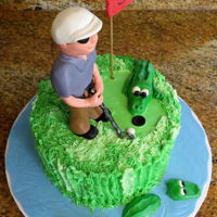 "When You Like To Golf In Florida   8"" carrot cake with buttercream icing and fondant decorations."