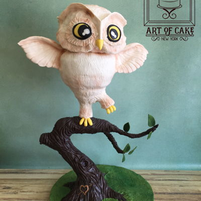 3D Owl On Branch