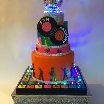 Disco Party Birthday Cake