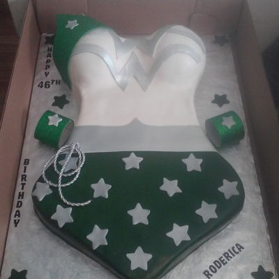 Full Sheet Wonder Woman Themed Birthday Cake