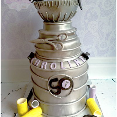 Hockey Playing Hairdresser on Cake Central