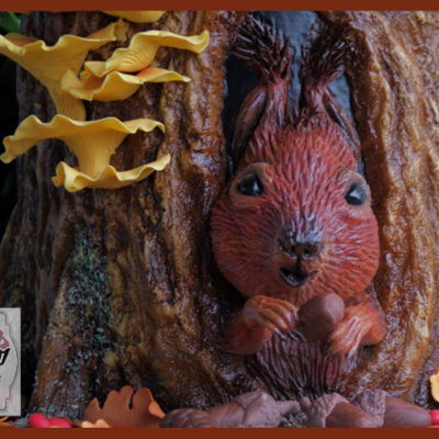 "Sweet Autumn Collaboration ""hungry Squirrel"""