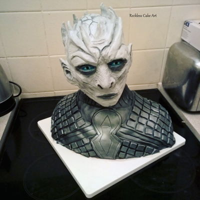 The Night King Bust Cake