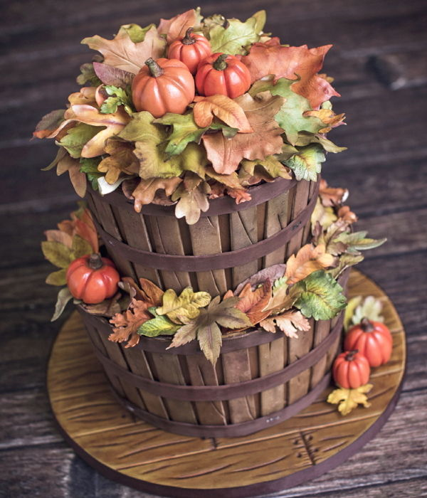 Fall Basket Cake