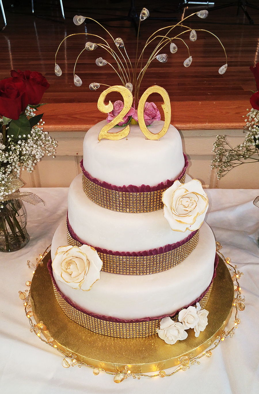 20th wedding anniversary cake - Th anniversary cake decorations ...