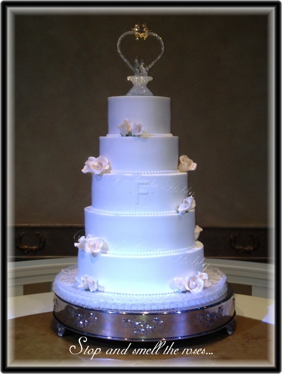 5 Tier Buttercream Wedding Cake Cakecentral Com