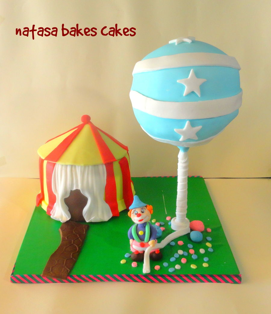 Anti Gravity Circus Cake on Cake Central