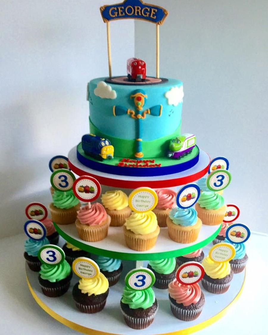 Chuggington Cake Cupcakes CakeCentralcom