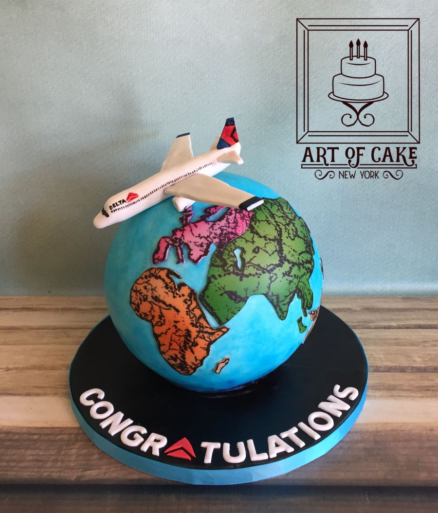Delta Airlines Work Anniversary Cake on Cake Central
