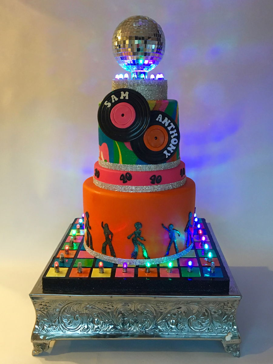 Disco Party Cake Images : Disco Party Birthday Cake - CakeCentral.com