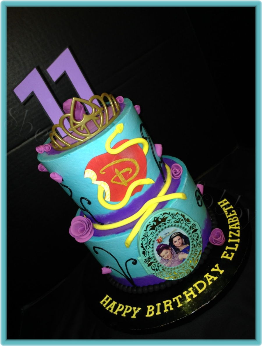 Disney Descendants Buttercream Birthday Cake Cakecentral Com