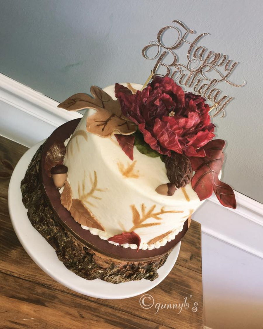 Fall Themed Birthday Cake Cakecentral