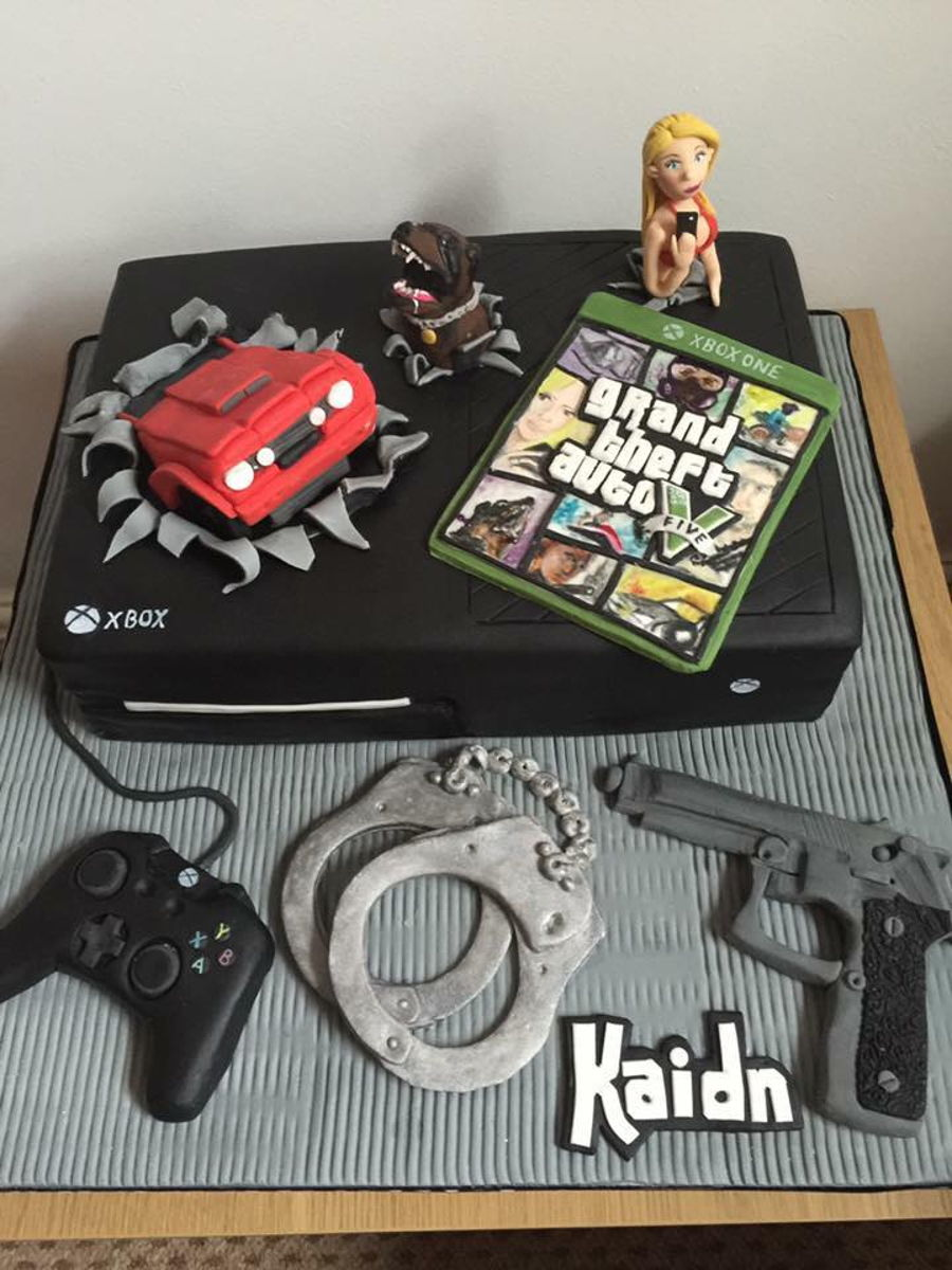 Grand Theft Auto Gta Xbox Cake Cakecentral Com