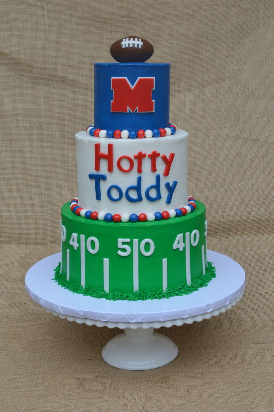Magnificent Hotty Toddy Ole Miss Cake Cakecentral Com Funny Birthday Cards Online Fluifree Goldxyz