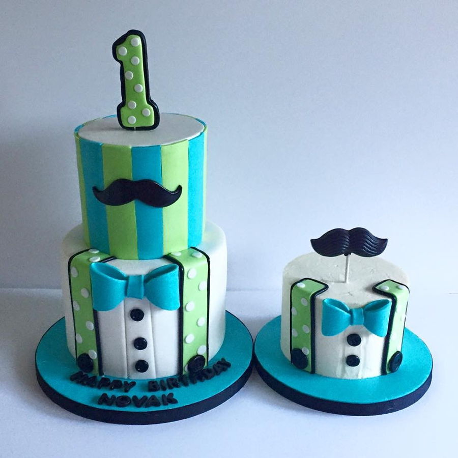 Little Man 1st Birthday Matching Smash Cake Cakecentral