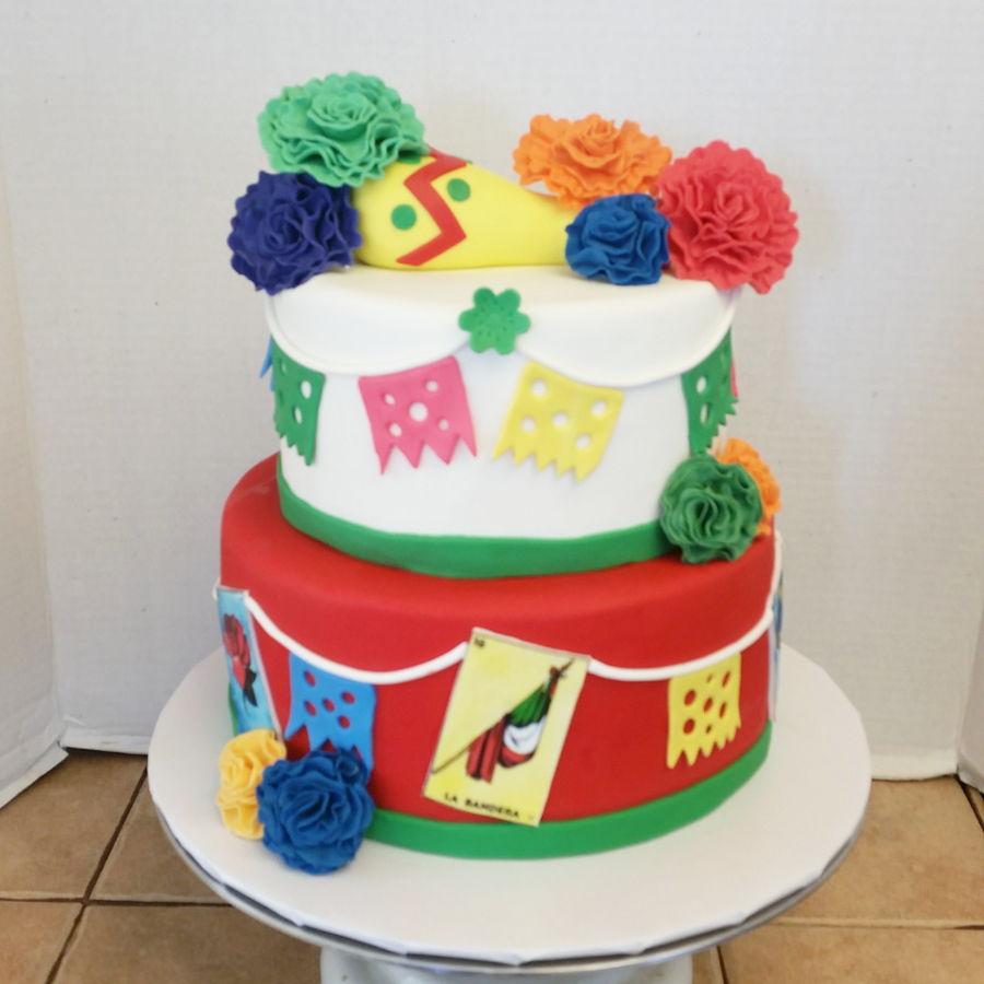 Loteria Mexican Cake - CakeCentral.com