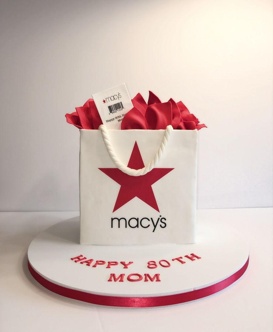 Macy S Shopping Bag Cake Cakecentral Com