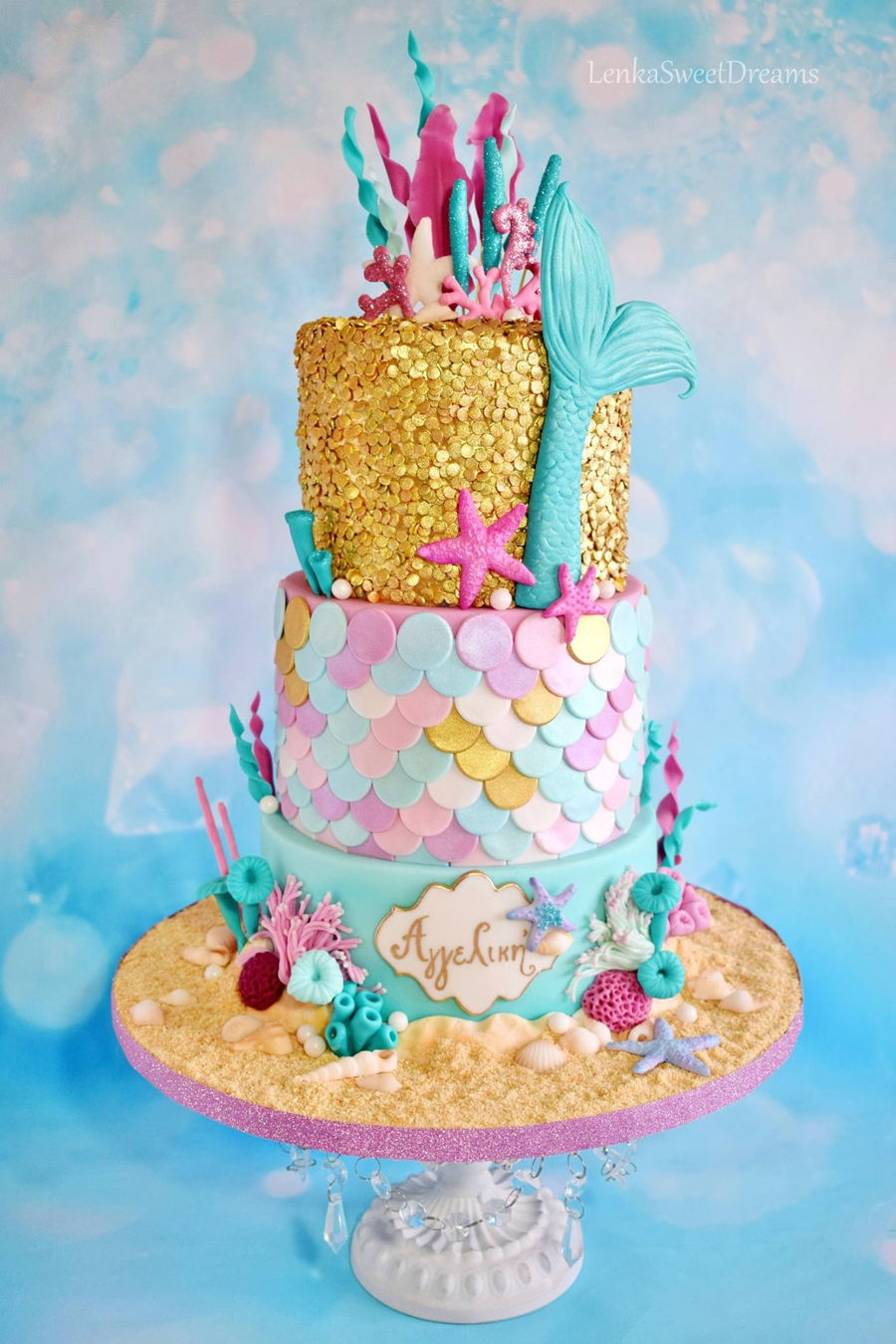 Mermaid Sequins Cake Cakecentral Com