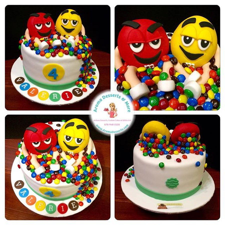 M m 39 s cake for M m cake decoration