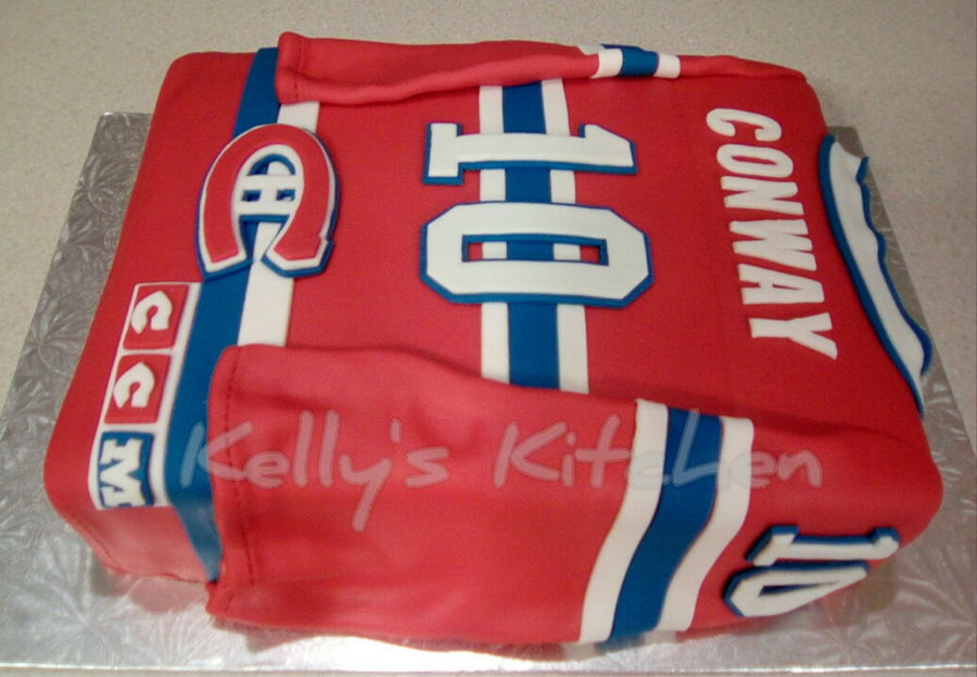 Montreal Canadiens Jersey Cake - CakeCentral.com