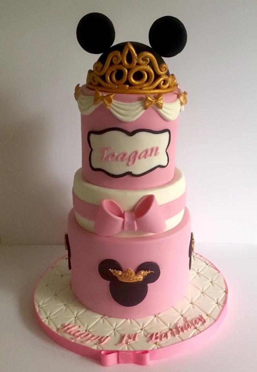 Princess minnie cake smash cake - Princesse minnie ...