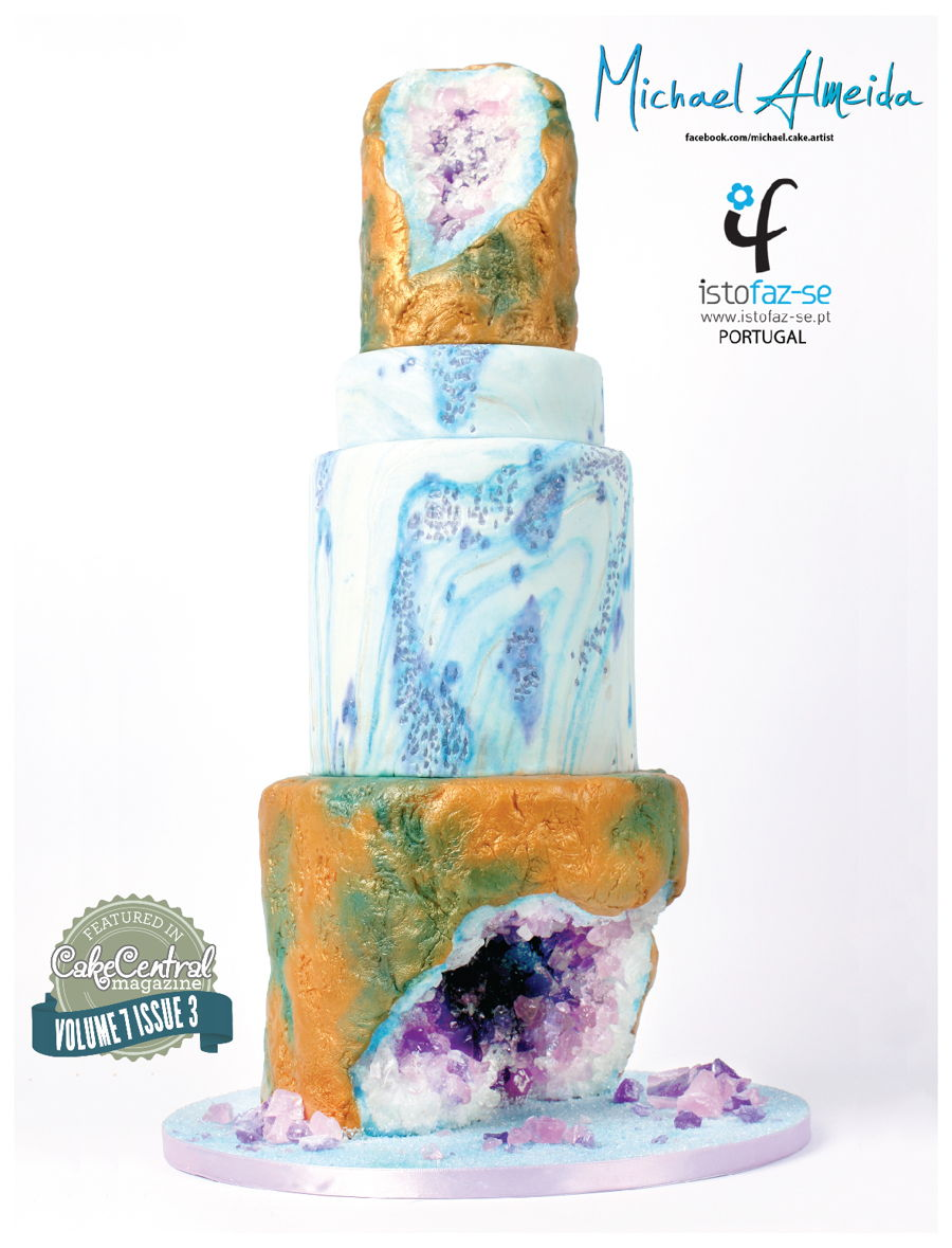 Purple Geode Cake on Cake Central