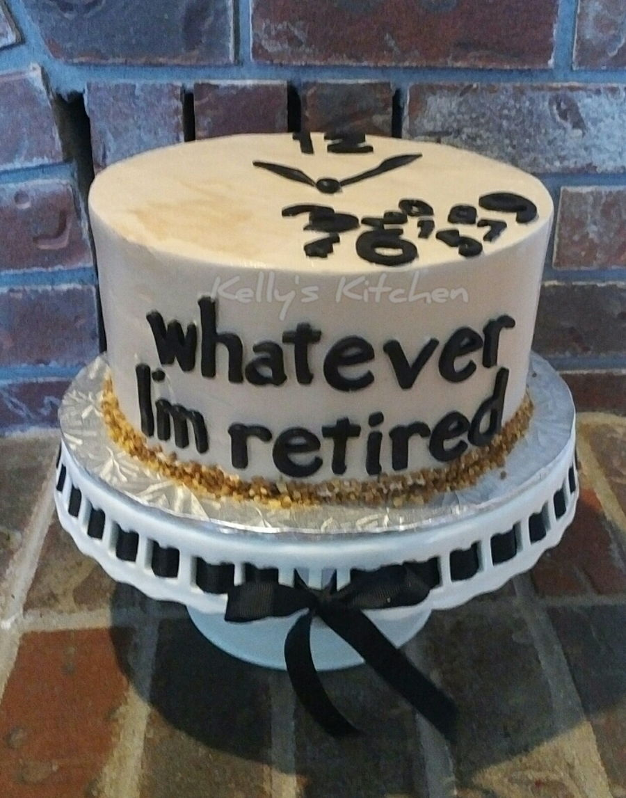 Retirement Cake Cakecentral Com