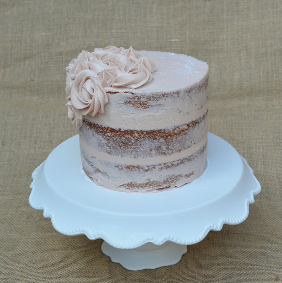 Sweet Tea Buttercream Semi Naked Cake on Cake Central