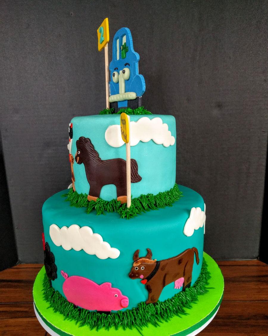 Birthday cake based on