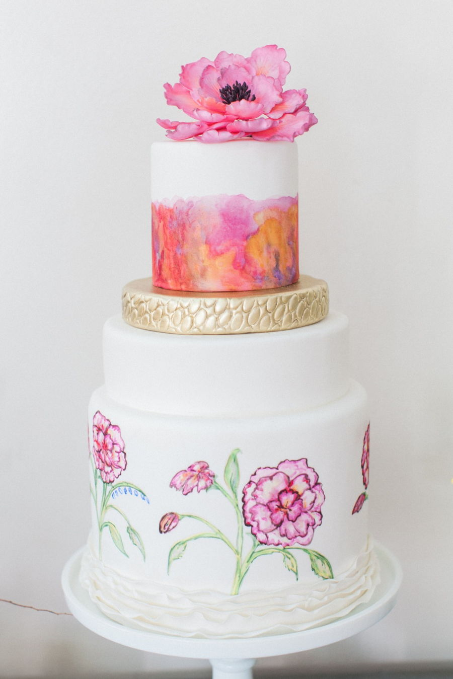 Water Color Wedding - CakeCentral.com