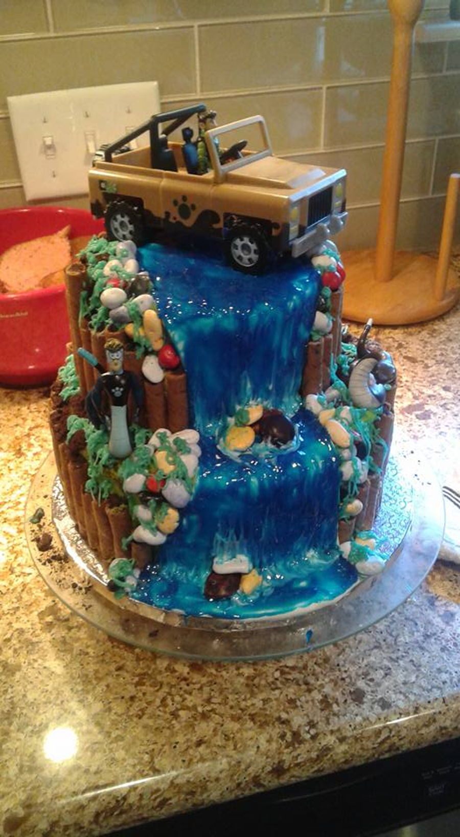 Waterfall Cake Wild Kratts Theme Cakecentral Com
