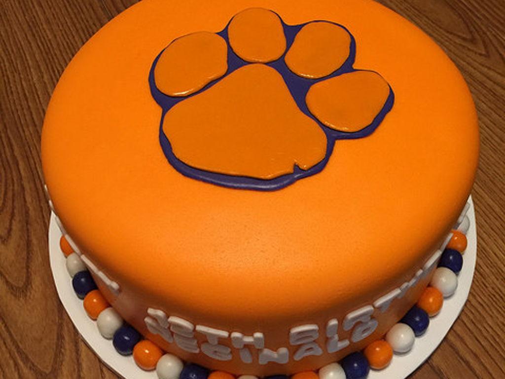 Clemson Paw Birthday Cake Cakecentral