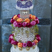 3 Feet Tall Silver Wedding Cake Rolkem silver used to create this wedding cake.