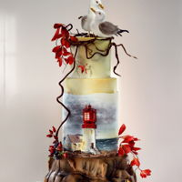 A Lighthouse Wedding Wedding cake to a lovely couple