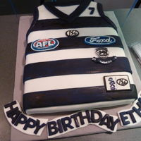 Afl Footy Cats Cake AFL GEELONG Cats Fondant cake
