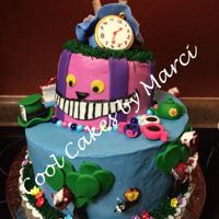 Alice In Wonderland Cake Alice in Wonderland Cake. Buttercream frosting with handmade Fondant decorations. Good all of my ideas from this site, Thanks to all of the...