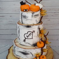 Autumn Wedding Cake autumn wedding cake with little pumpkin and physalis fruits