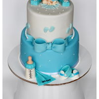 Baby Boy Shower Cake !!   Baby boy shower cake !!