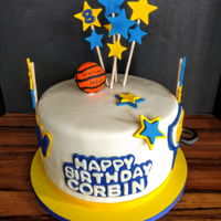 Baseball Cake Baseball and stars birthday cake...