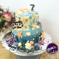 Buttercream My first time the Ocean Cake ^^