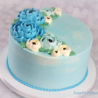 Buttercream Flowers   Classic still works! Here is a simple cake done with all hand piped flowers. Thanks for looking!