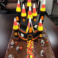 Candy Corn Haunted Castle Candy Corn Haunted Castle is almost completely edible. I was going to make it with the Wilton set, but don't agree with so much being...