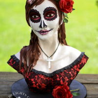 "Catrina Dia de los Muertos! - Happy Day of the Dead! Sharing ""Catrina"" my contribution for the Amazing SUGAR SKULL Bakers..."