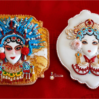 "Chinese Opera Cookies, Music Around World - Cake Notes Collaboration My contribution to the International Day of the Music through the Collaboration ""Music Around World - Cake Notes"" These cookies..."