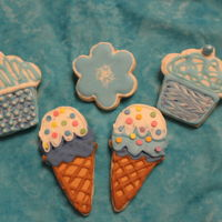 Cupcake & Ice Cream Cookies 2015   Made these for my nephews just because