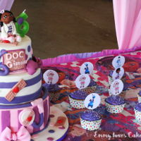 Doc Mcstuffin Cake And Cupcakes Doc McStuffins cake and cupcakes