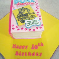Dork Diaries Book Cake 10Th Birthday This is a half-funfetti, half-chocolate book cake with vanilla buttercream icing and filling. All fondant accessories. The shadows and...